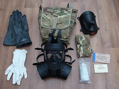 British Army GSR Respirator Gas Mask With Filters Size 3 + bag