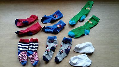 bundle 6 x baby toddler socks 6 months - 18 months