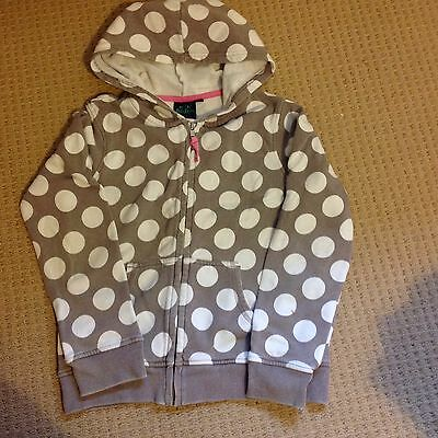 Mini Boden Brown Spotty Hooded Top Age 9-10 Years
