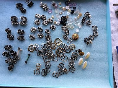 Job Lot Of Odd Bits buttons buckles