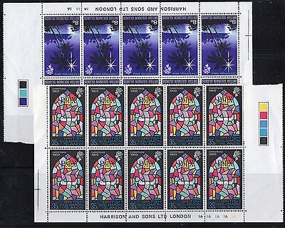 British Solomon Islands: Christmas 1969 Imprint Blocks x 10 UMM/MNH