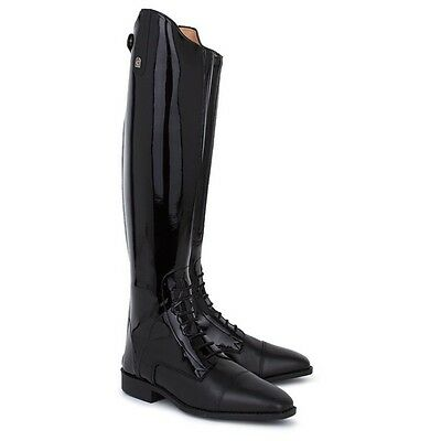 Long Leather Cavallo Riding Boots In Black, Size 40(61/2)