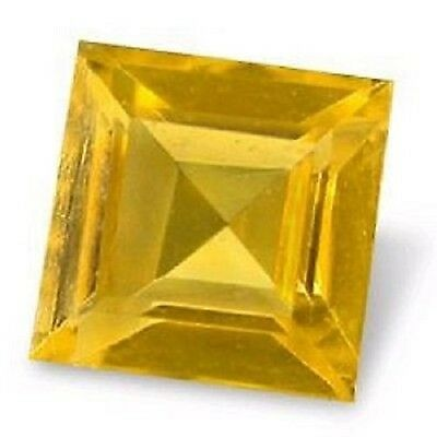 Charming Golden Yellow Madeira CITRINE Square Cut 5 mm