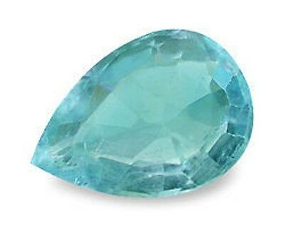 Great Neon Blue Green APATITE Pear Shape Cut 5X3.5 mm