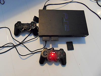 Sony PlayStation 2 Black Console (SCPH-50003) + 34 Games, Controllers, Memory