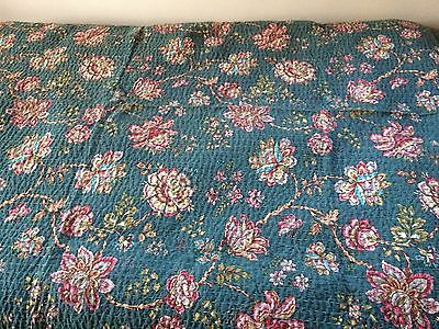French Floral Bedspread Quilt Throw Single Size New