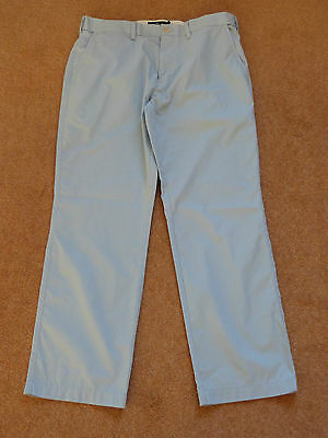 M & S Blue Lightweight Breathable Trousers 34W 29L