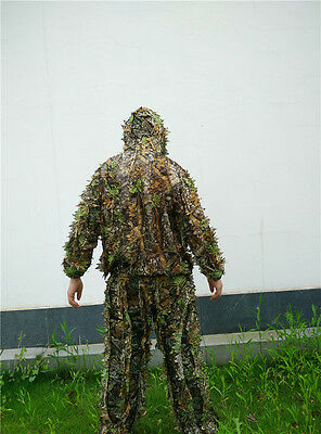 Hunting clothes New 3D maple leaf Bionic Ghillie Suits Yowie sniper birdwatch