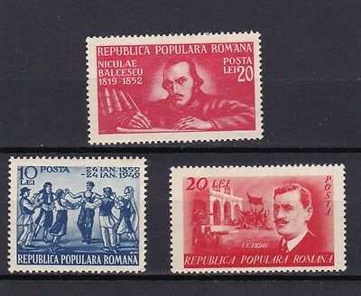 Romania #699,702,703 Mlh Various Single Issues