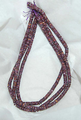 """Purple Spiny Oyster 6Mm Button/rondelle Beads - One (1) 16"""" Strand"""