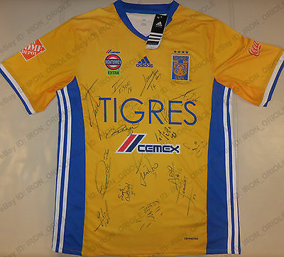 2017 TIGRES UANL team signed home PUMA soccer jersey 100% Authentic autos PROOF