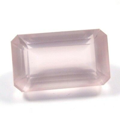 19.75 ct Natural Rose Quartz Octagon Fine Faceted AAA Quality Loose Cut Gemstone