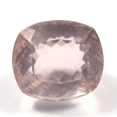 24.85 ct Natural Rose Quartz Cushion Fine Faceted AAA Quality Loose Cut Gemstone