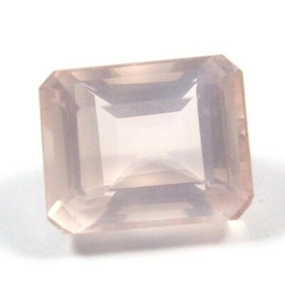9.15 cts Natural Rose Quartz Octagon Fine Faceted AAA Quality Loose Cut Gemstone