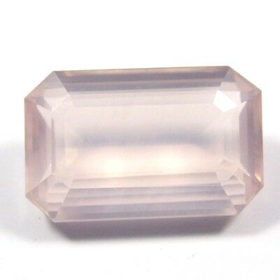 24.40 ct Natural Rose Quartz Octagon Fine Faceted AAA Quality Loose Cut Gemstone