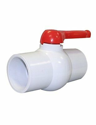 """Charman Manufacturing 1210 4"""" Inline PVC Ball Valve, Lever Handle, Solvent End"""