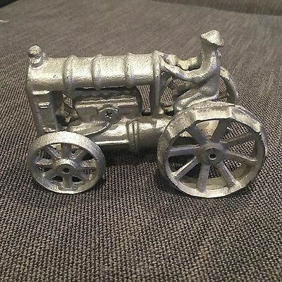 Cast Iron Tractor with Driver