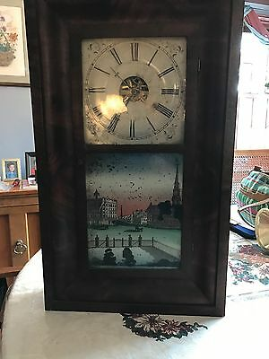 1800's Clock With Reverse Painting