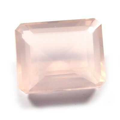 13.75 ct Natural Rose Quartz Octagon Fine Faceted AAA Quality Loose Cut Gemstone