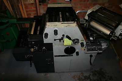 TOKO T51 N Lithographic two colour printing press. Numbering & perforating unit.