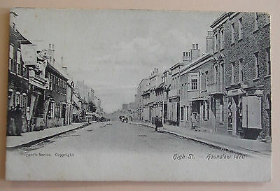 MAYGERS SERIES Postcard c.1905 HIGH STREET IN 1870 HOUNSLOW MIDDLESEX