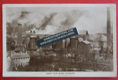 DAVIES RP Postcard POSTED 1913 EBBW VALE BLAST FURNACES EBBW VALE MONMOUTHSHIRE