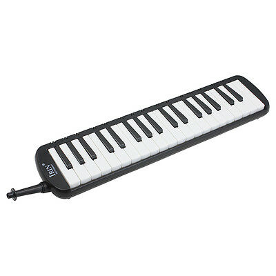 IRIN Black 37 Piano Keys Melodica Pianica w/Carrying Bag For Students New E5J4