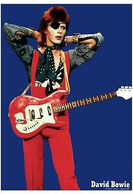 David Bowie POSTER **RARE PICTURE** Live with Hagstrom Guitar - MUST SEE!