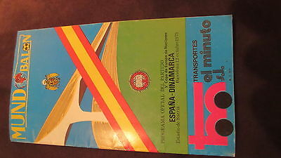 Official programme Spain vs. Denmark 1975 barcelona