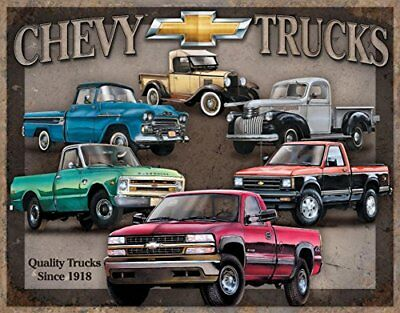 "Chevy Truck Tribute Metal Tin Sign 16""h X 12.5""w , 16x13"