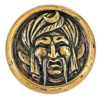 "Cast Brass ""turk's Head"" Figural Emblematic Doorknob"