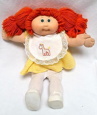 Authentic Vintage 1983 Cabbage Patch Doll - Red Hair Green Eyes