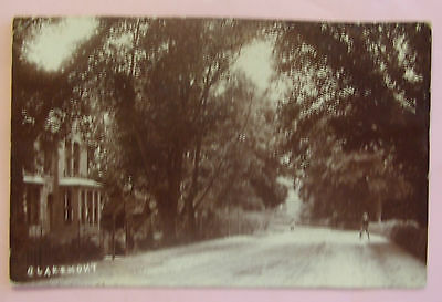 RP Postcard c.1910 EARLY STREET SCENE CLAREMONT - UNKNOWN LOCATION - LONDON