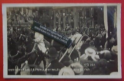 RP Postcard JUNE 22nd 1909 VISIT OF PRINCE & PRINCES OF WALES TO WELLS SOMERSET