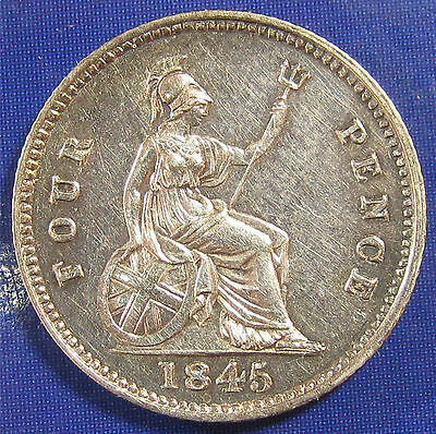 1845 4d Victoria silver Groat in a gloriously high grade