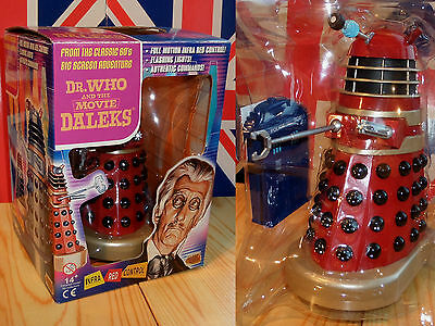 Remote Controlled DR.WHO and the DALEKS Movie RED + GOLD Dalek Mint/Boxed