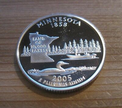 2005 S * Cameo Proof * Silver Minnesota State Quarter (90% Silver) // Mc 315
