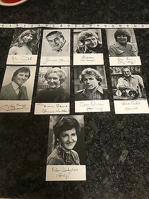 Collection Of 9 Coronation Street Pre Printed Signed Card