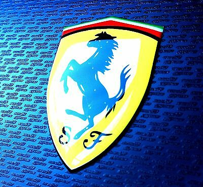 FERRARI SHIELD x1 3D domed sticker badge 40x28mm new