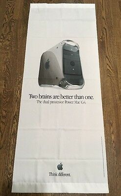 Apple Power Mac G4  Two Brain Better Than One Banner Advertising Good Condition
