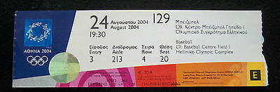 Orig.Ticket  Olympic Games ATHEN 2004 - BASEBALL  3.Place match / JAPAN - CANADA