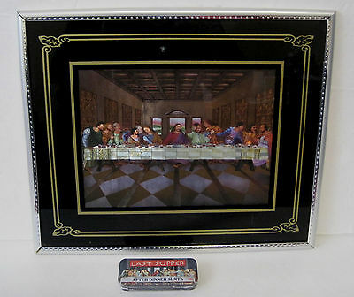 The Last Supper Picture Framed Photo 3D 3-D Effect + Last Supper Mints