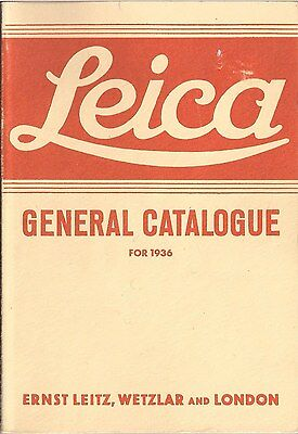 Leica General Catalogue 1936 (German Photographic Equipment)