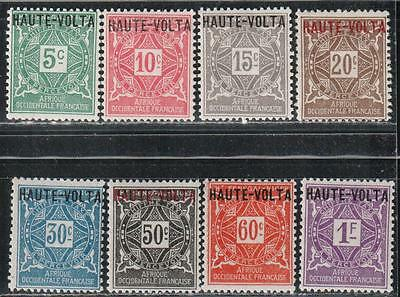 1920 French colony stamps, Burkina Faso, full set MH, SC J1-8
