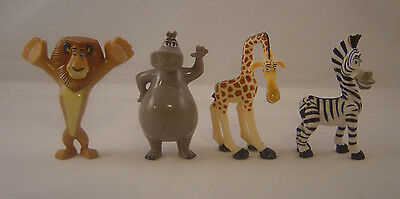 Dreamworks Madagascar Lot of 4 Characters: Alex, Marty, Gloria & Melman