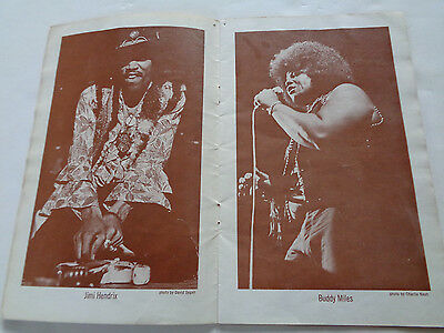 Jimi Hendrix Fillmore East Original New Year Shows Concert Programme