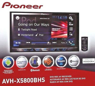 "Pioneer AVH-X5800BHS Double 2 DIN DVD/CD Player 7"" Bluetooth HD Radio Brand NEW"