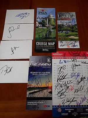 US Open and PGA Signed Programs, Rose, Love, Toms and many other winners,