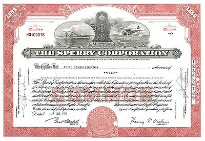 The Sperry Corporation   1947 Delaware old stock certificate share