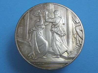 HISTORICAL 'GENIUS OF MICHELANGELO' SILVER PROOF MEDAL - Judith and Holofernes